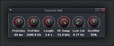 how to make concert hall effects